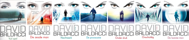 Baldacci is making my point with a similar cover for each book